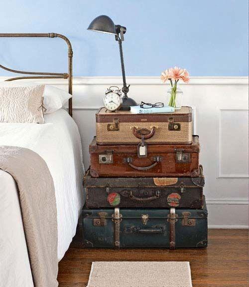 comodini fai da te con valigia 4