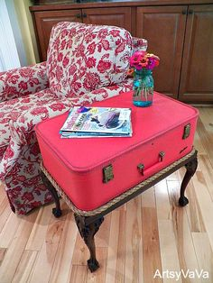 comodini fai da te con valigia 9