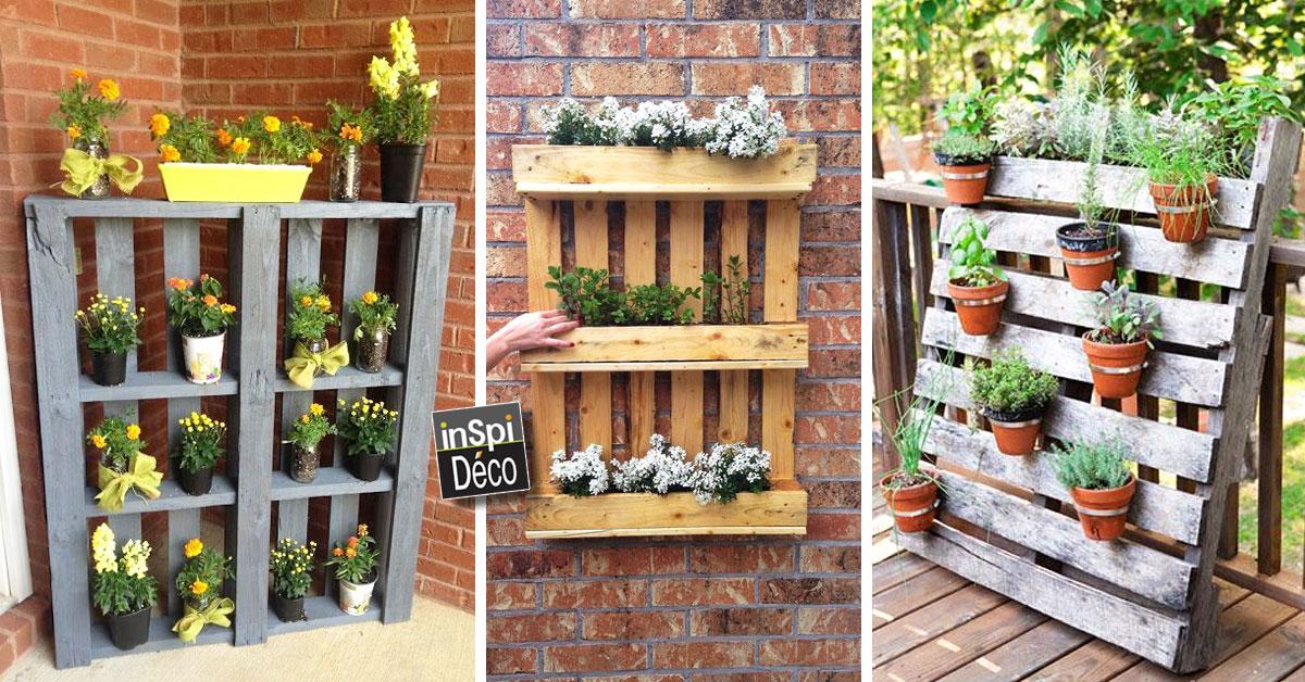 Palette avec des fleurs 20 id es cr atives pour vous inspirer - Deco jardin en palette nice ...