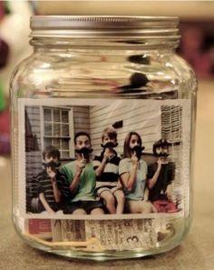 portafoto creativi barattoli di vetro 4