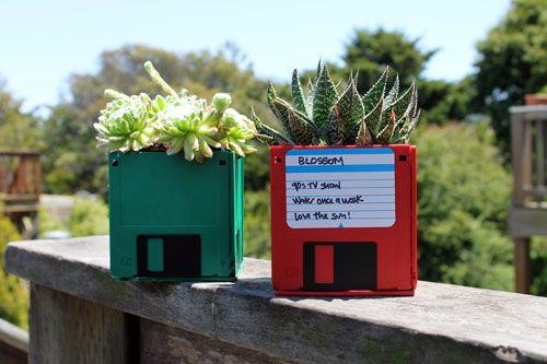 Recycler les vieilles disquettes