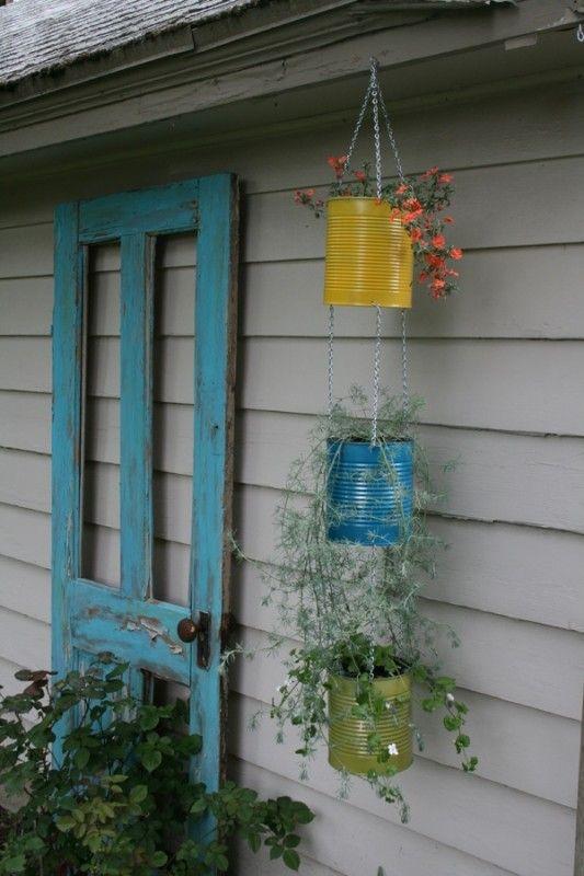 décorer le jardin en recyclant des vieilles portes