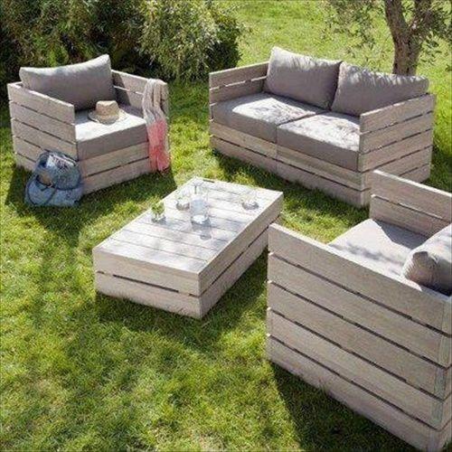 Fabriquer un salon de jardin avec des palettes idée n 13 salotto giardino pallet 8
