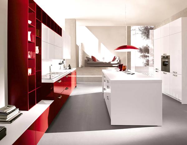 Du rouge dans la cuisine
