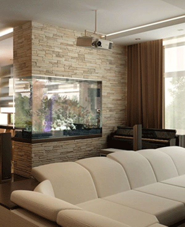 Diviser une pi ce avec un aquarium 12 id es cr atives - Idee pour separer une piece ...