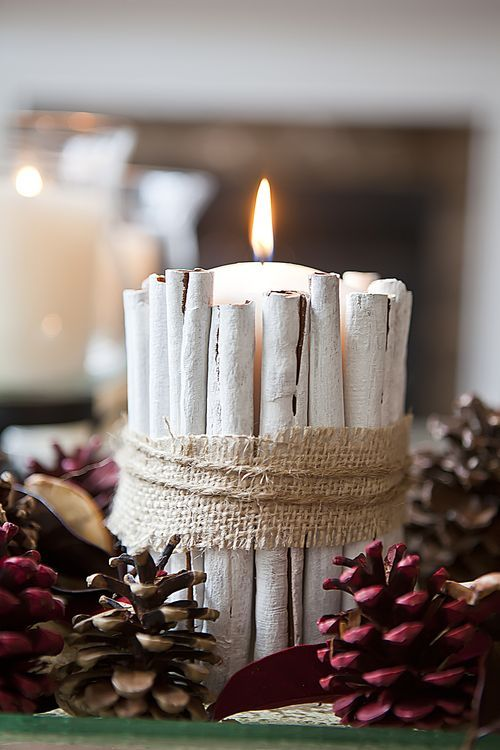 Decorazioni candele fai da te