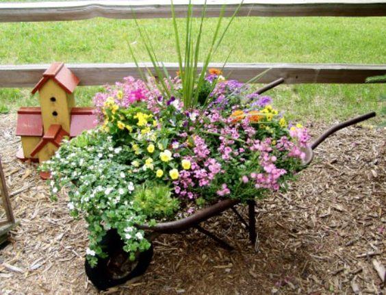 carriola con fiori 4