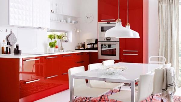 cucina-laccata-rossa-ikea
