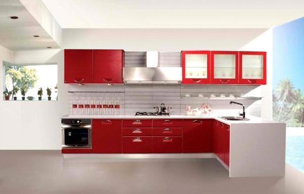 cucina-moderna-rossa-e-bianca-con-penisola