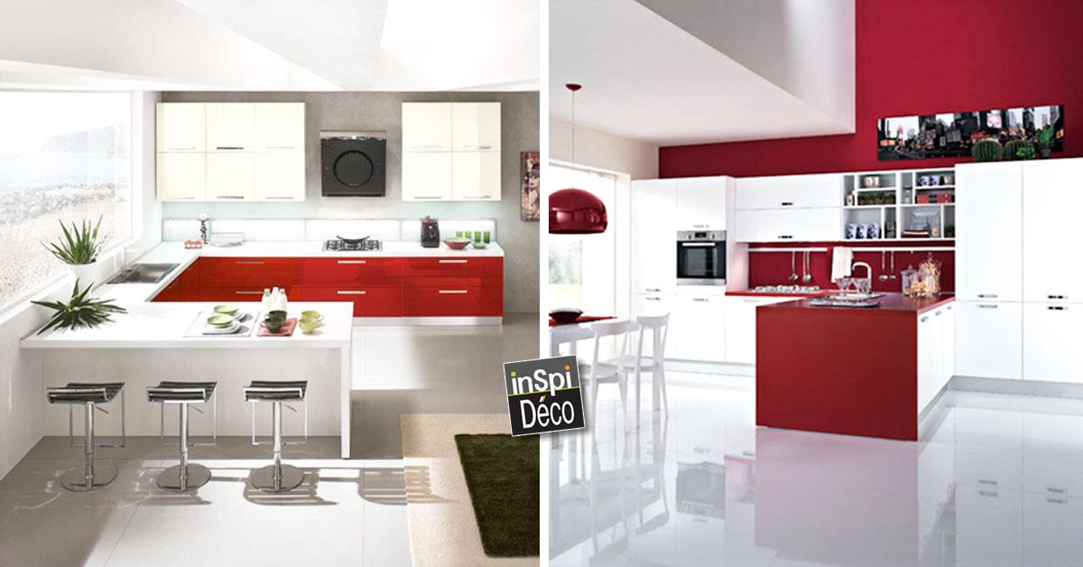 du rouge dans la cuisine voici 24 id es pour vous inspirer. Black Bedroom Furniture Sets. Home Design Ideas