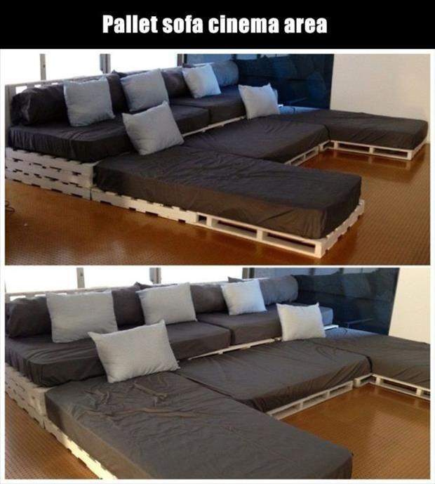 divano fai da te pallet 14