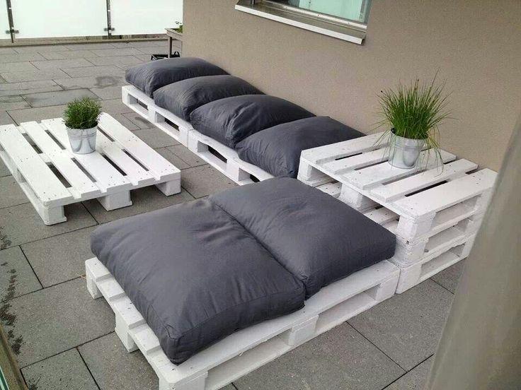 fabriquer un divan original en palette ide n 12 - Fabriquer Salon De Jardin Avec Palette