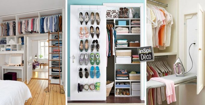 R aliser un dressing malin 20 id es cr atives for Idee dressing petit espace