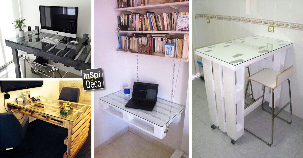 Fabriquer un bureau avec des palettes idées