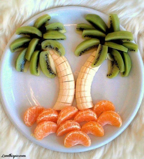 Food art avec les bananes