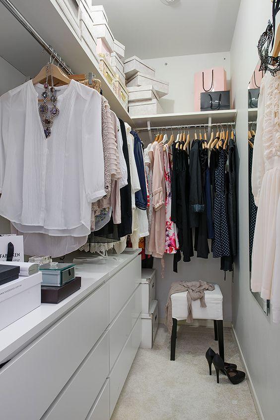 organizzare un dressing in un piccolo appartamento