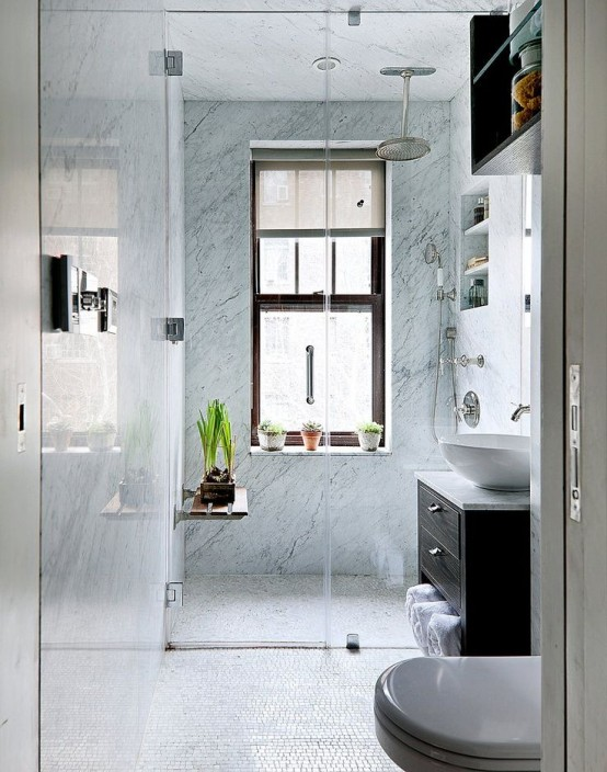 Aménager une petite salle de bain! Voici 26 idées...