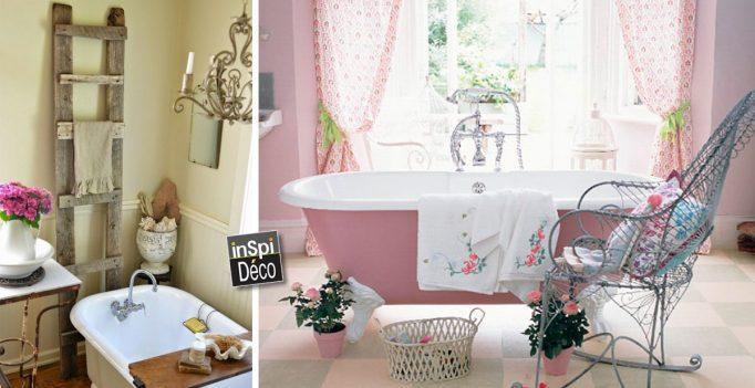 D co style vintage dans la salle de bain 18 id es - Salle de bain style campagne chic ...