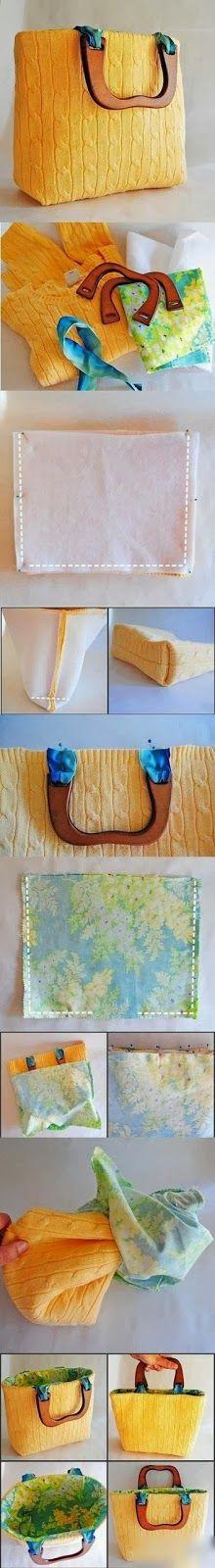 riciclo creativo vecchio maglione 15