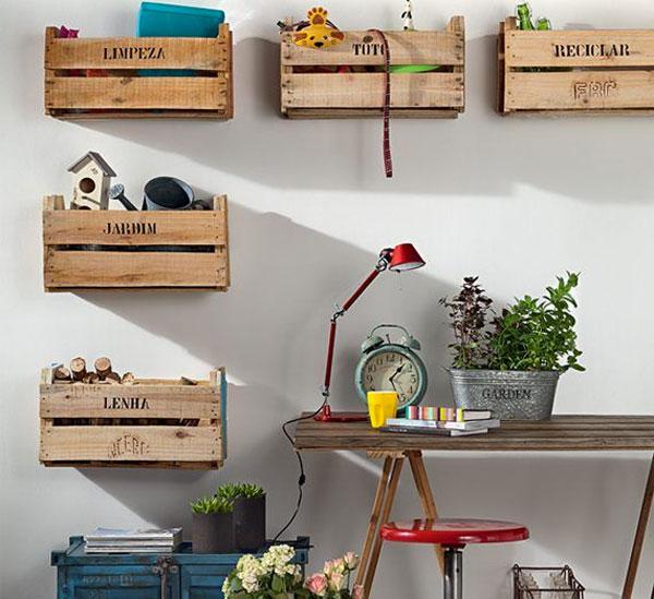 Recyclage créatif des caisses de fruits