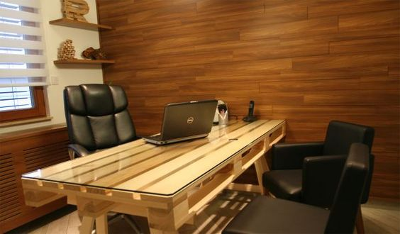 scrivania con bancali 10