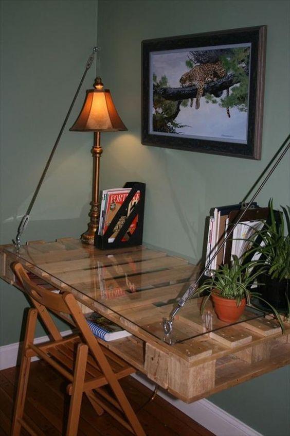 scrivania con bancali 4