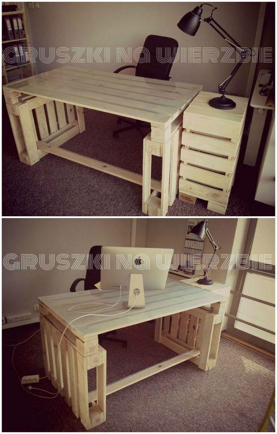 scrivania con bancali 7