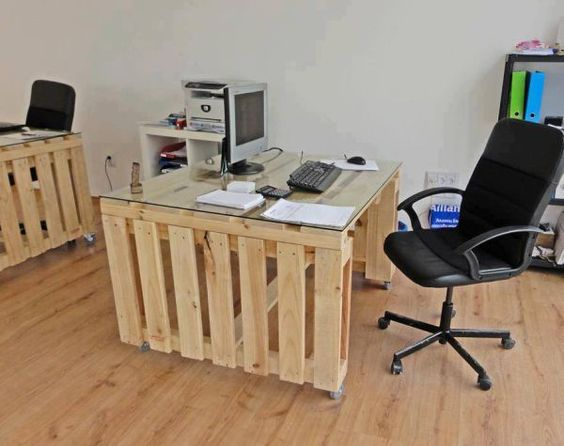 scrivania con bancali 8