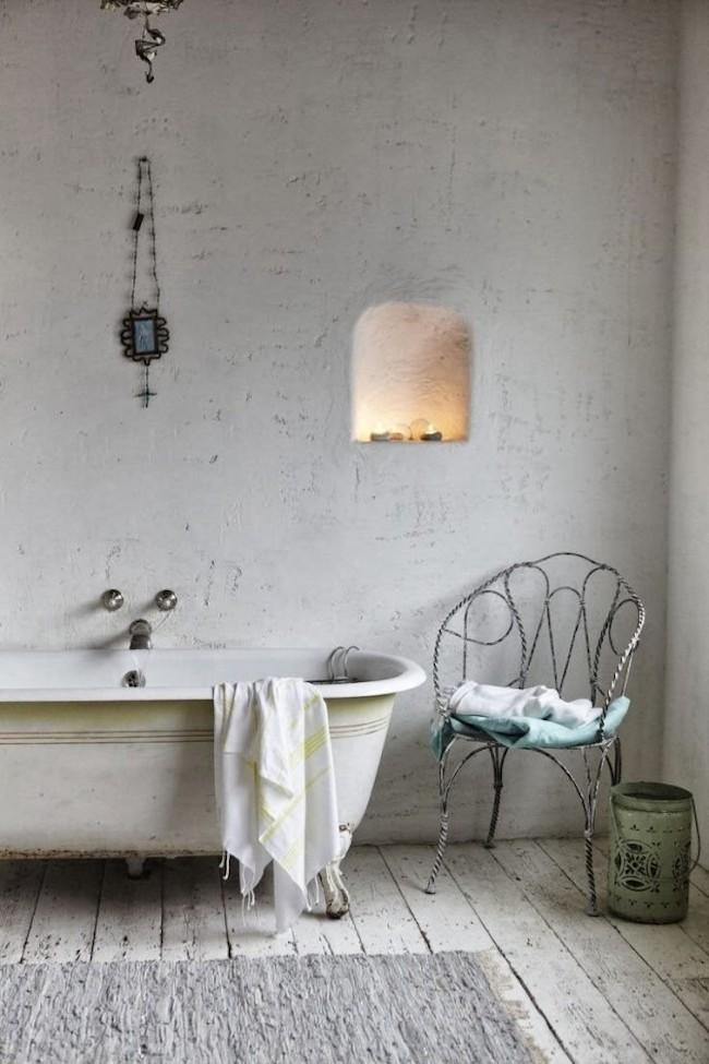 D co style vintage dans la salle de bain 18 id es for Salle de bain style antique
