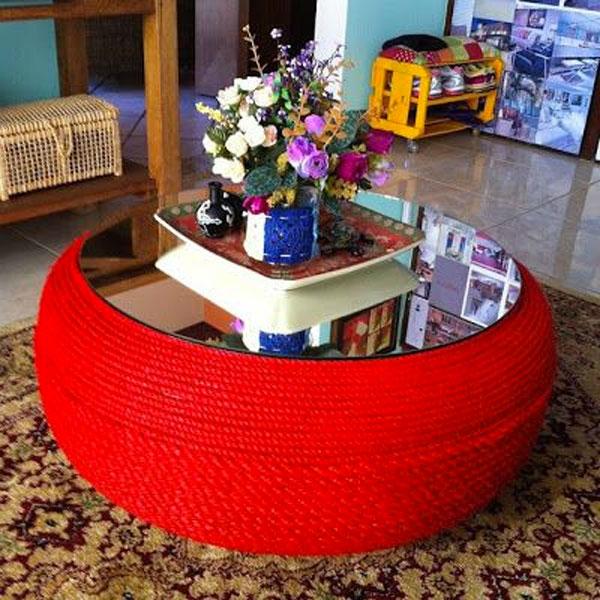 Recyclage créatif des pneus