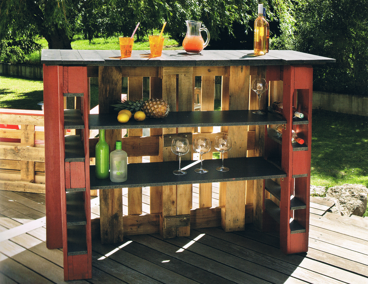 Mini Bar En Bois De Palettes Voici 20 Id Es Cr Atives