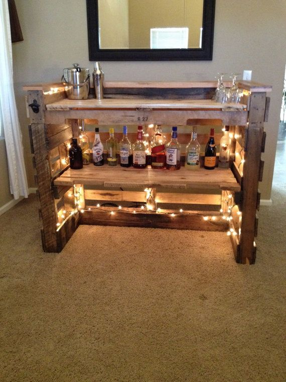 Beliebt Mini Bar en bois de palettes! Voici 20 idées créatives DN07