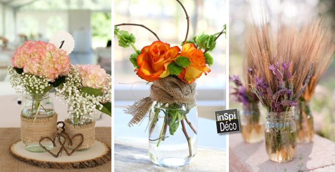 pots de fleurs avec des bocaux en verre recycl s. Black Bedroom Furniture Sets. Home Design Ideas