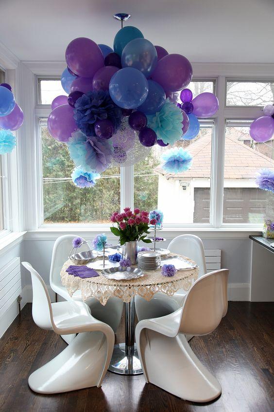 Украшение зала на день рождения своими руками