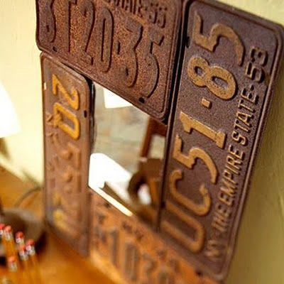 d corations avec plaques d 39 immatriculation voici 20 id es. Black Bedroom Furniture Sets. Home Design Ideas