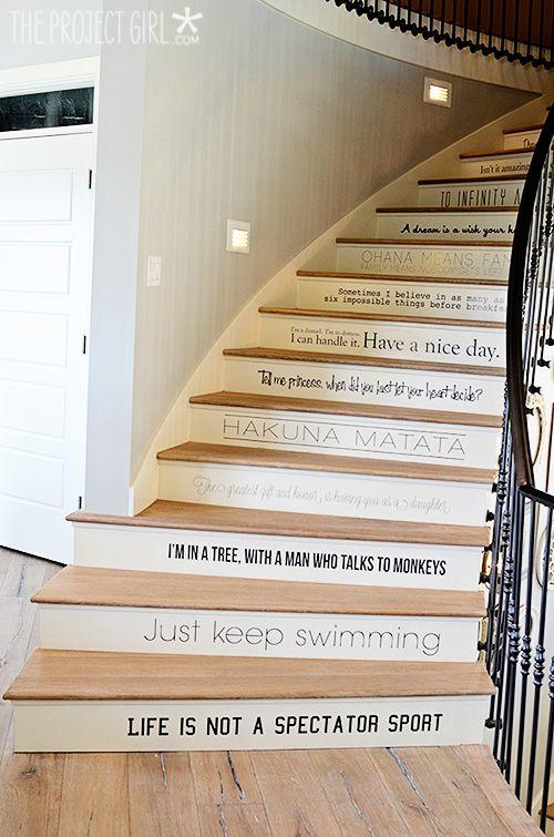 Décorer les escaliers de manière créative