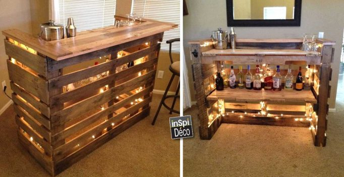 Bevorzugt Mini Bar wooden pallets! Here are 20 creative ideas LC79