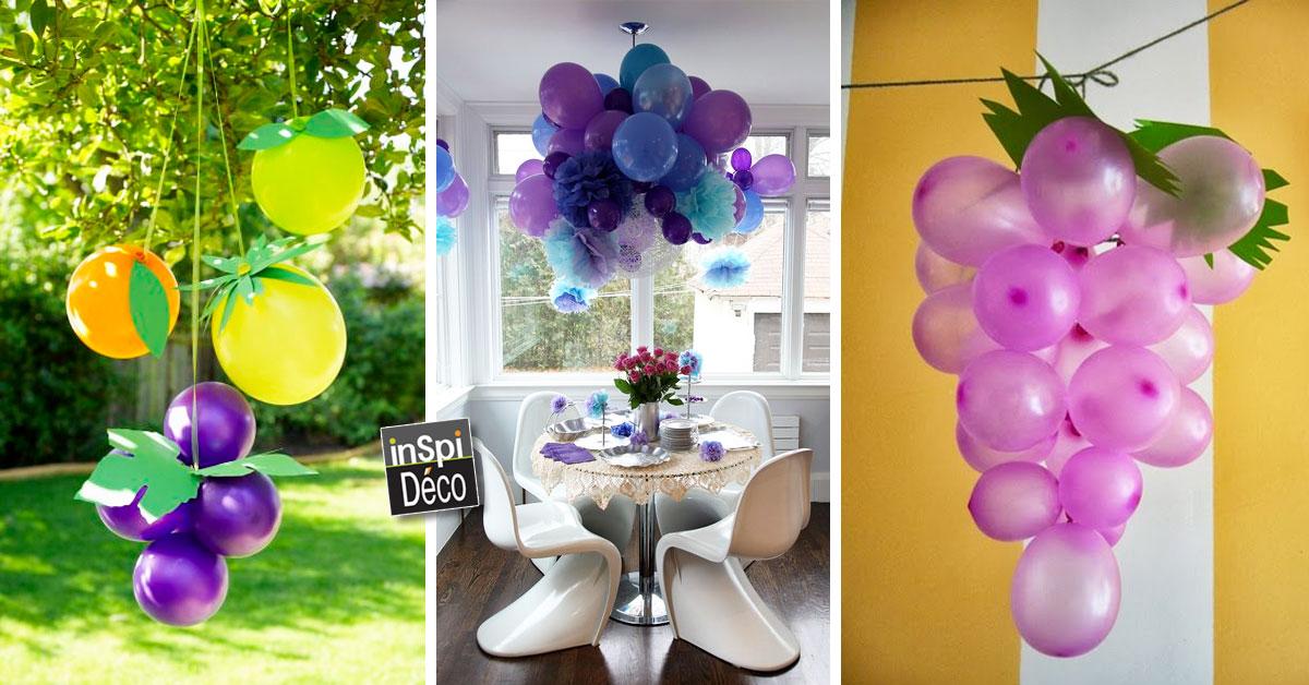 D corer avec des ballons voici 20 id es - Decoration avec ballon ...