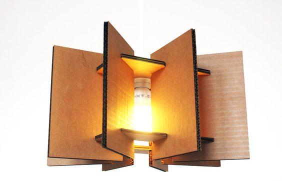 lampadario fai da te cartone 22