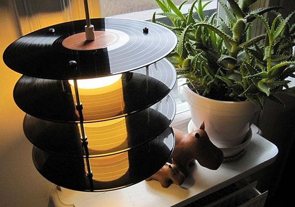 Recyclage créatif des vieux vinyles