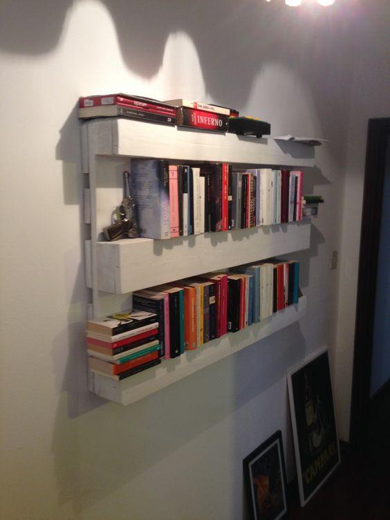 libreria fai da te pallet 4