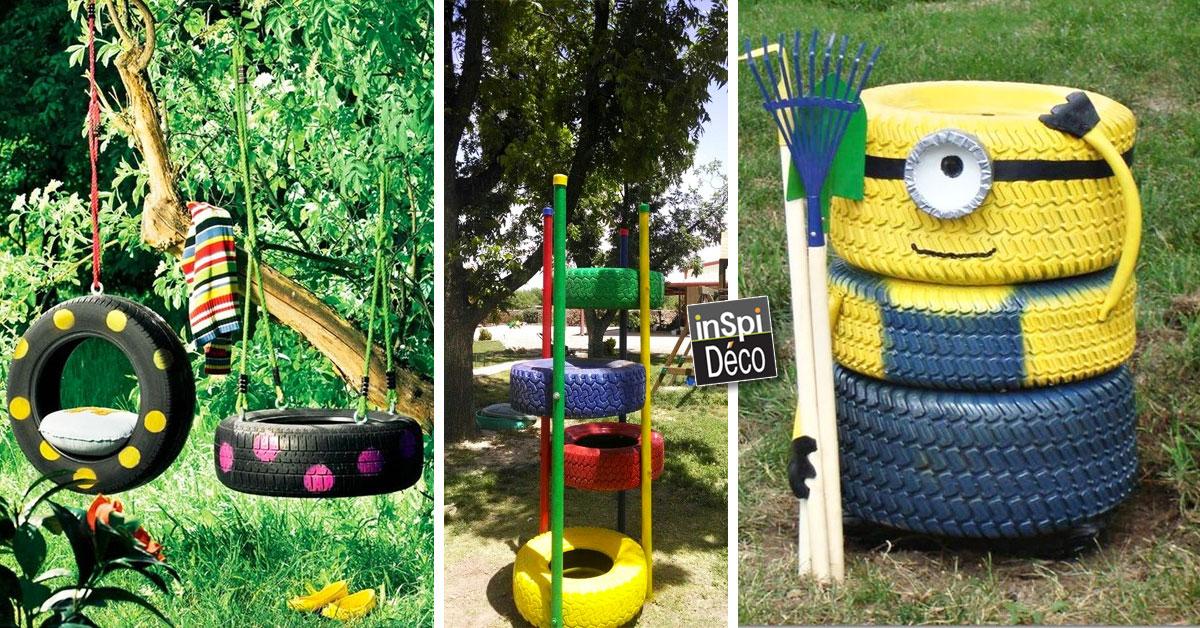 recycler les pneus pour cr er des jeux pour enfants 20 id es. Black Bedroom Furniture Sets. Home Design Ideas
