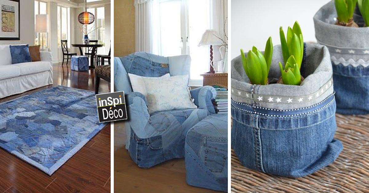 R cup rer les vieux jeans pour d corer la maison 20 id es for Pour decorer maison