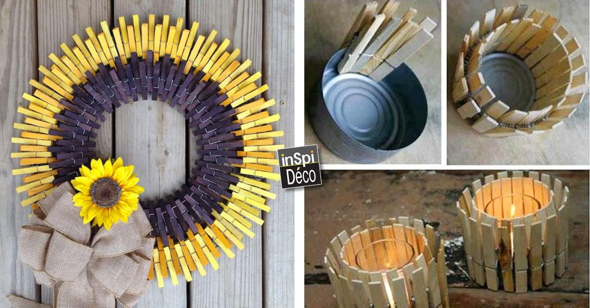 recyclage cr atif des pinces linge voici 20 id es. Black Bedroom Furniture Sets. Home Design Ideas