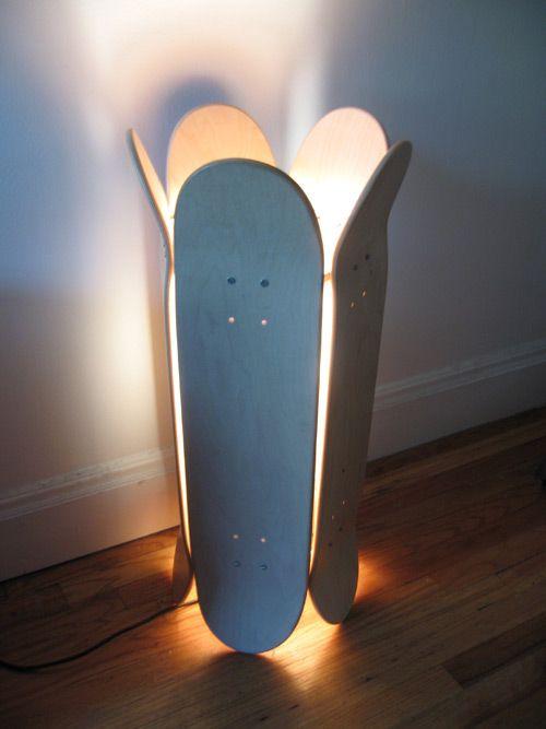 décorer avec un skateboard