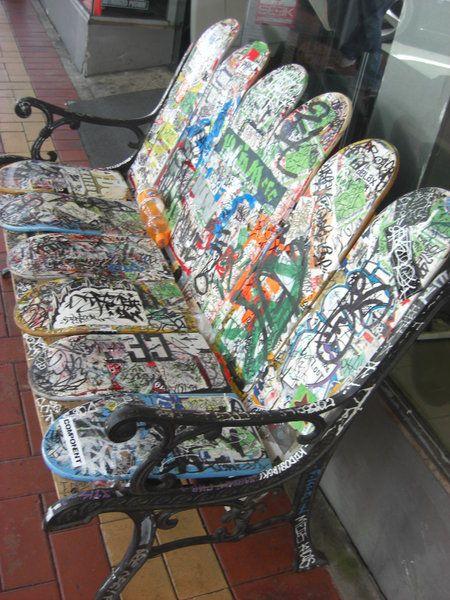 riciclare il vecchio skateboard 5