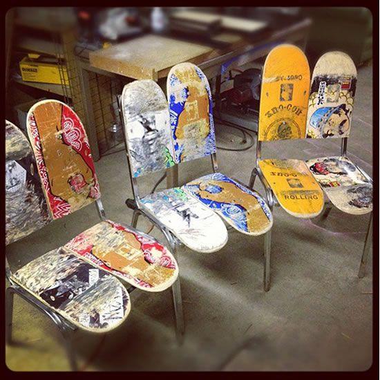 riciclare il vecchio skateboard 6