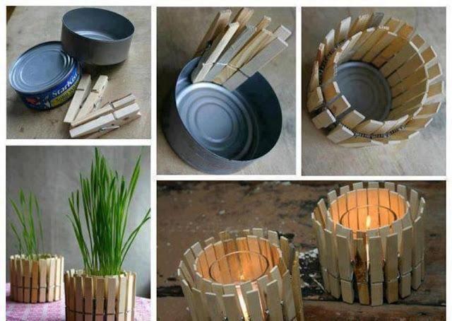 Recyclage créatif des pinces à linge