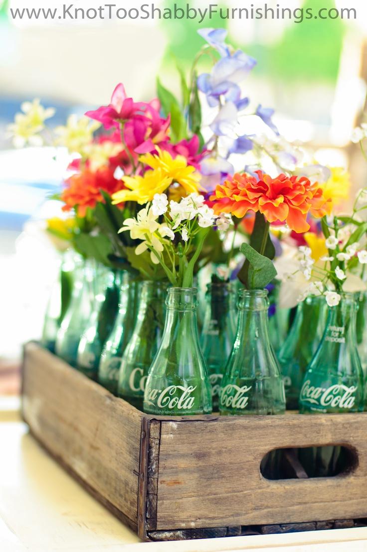 Decoration Avec Des Bouteille En Verre De Coca Cola