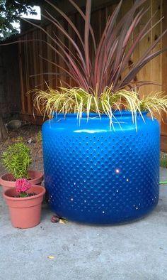 Riciclo creativo cestello lavatrice